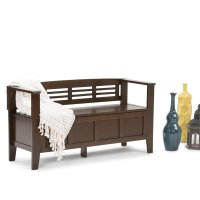 Entryway Storage Bench in Rustic Brown - 3AXCADABEN