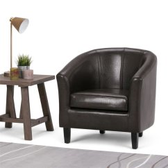 Leather Tub Chair Jerome's Swivel Chairs Faux In Dark Brown Axctub 001
