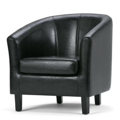 Leather Tub Chair Costco Desk Chairs Faux In Black Axctub 002