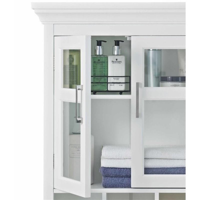 Two Door Wall Medicine Cabinet in White
