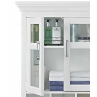 Two Door Wall Medicine Cabinet in White - AXCBC-006-WH
