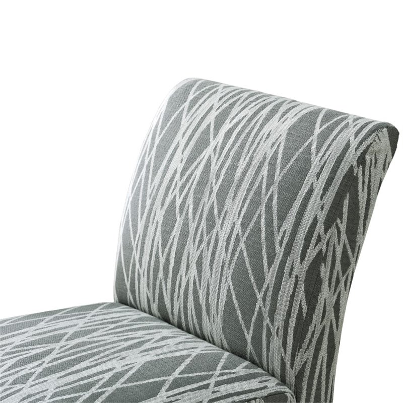 Accent Chair in Gray and White  AXCCHR008G