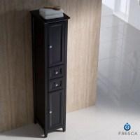 Fresca Oxford Tall Bathroom Linen Cabinet in Espresso ...