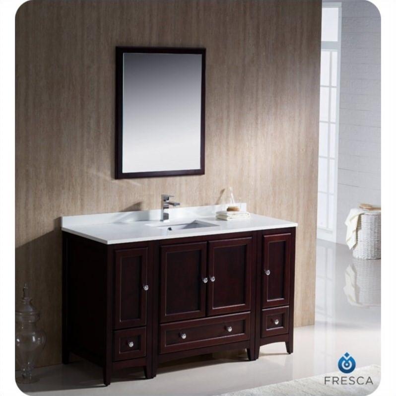 Fresca Oxford 54 Bathroom Vanity in Mahogany  FVN20123012MH