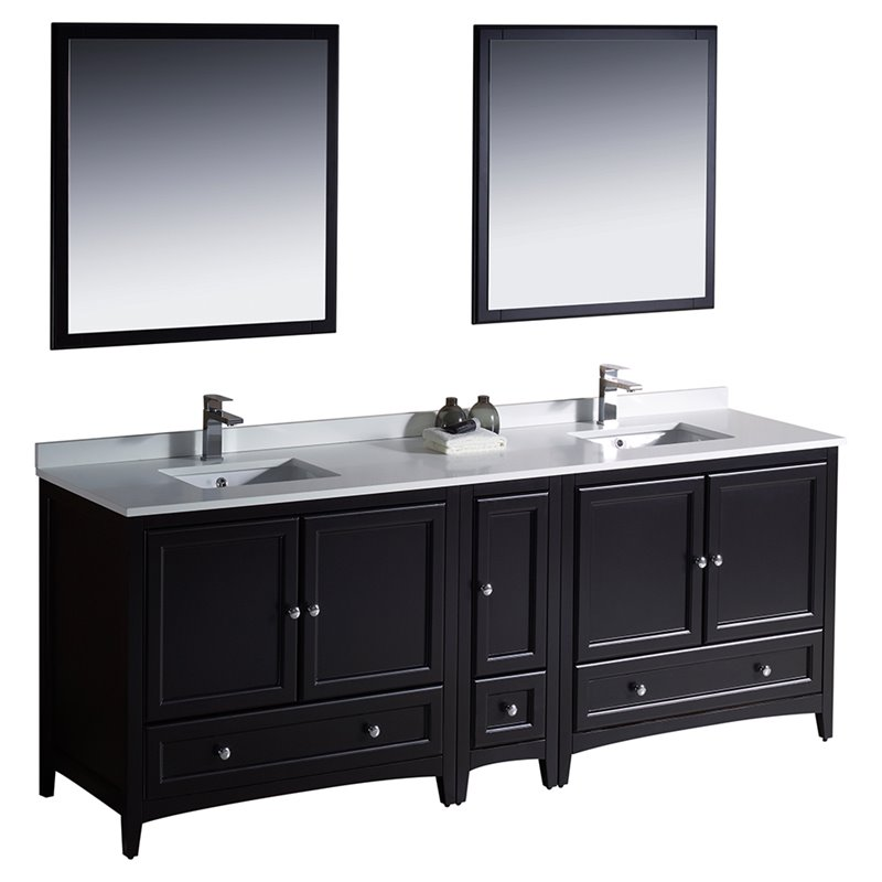 Fresca Oxford 84 Bathroom Vanity in Espresso  FVN20361236ES