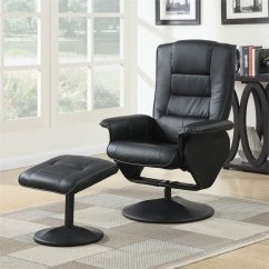 Recliner Vs Chair With Ottoman Rush Seat Repair Kit Acme Furniture Arche 2 Piece And Set In Black 59365