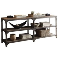 Sale Sofa Tables Non Traditional Beds Console Cymax Stores Acme Gorden Table In Weathered Oak And Antique Silver