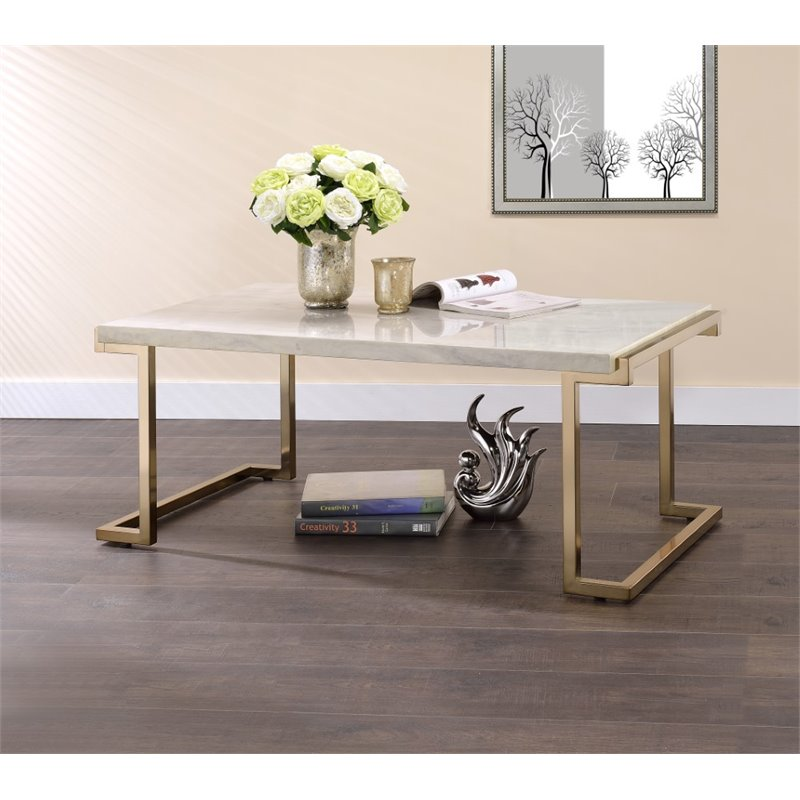 boice ii 3 piece modern coffee table and 2 end tables set in faux marble