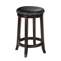 """24"""" Bar Stool In Espresso (Set Of 2) Counter Height With ..."""