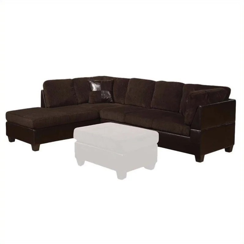 acme sectional sofa chocolate harga bed inoac surabaya furniture connell in and espresso