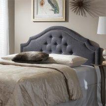 Cora Upholstered Full Headboard In Dark Gray - Bbt6564