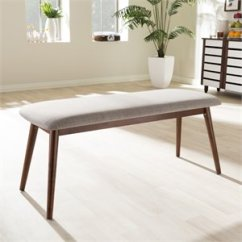 Kitchen Benches Single Sink Cymax Stores Flora Dining Bench In Light Gray