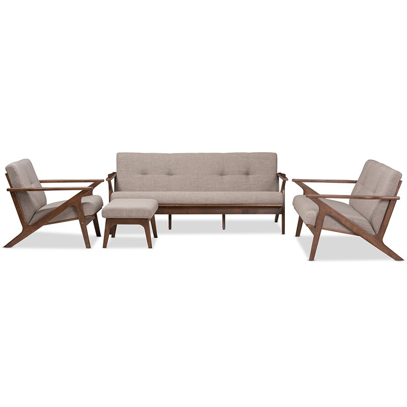 bianca futon sofa bed review tan leather and loveseat baxton studio 4 piece tufted set in gray walnut brown 7548 7549 7550 7551
