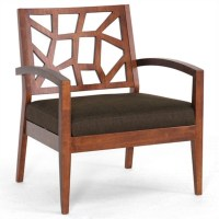 Jennifer Fabric Lounge Arm Chair in Brown ...