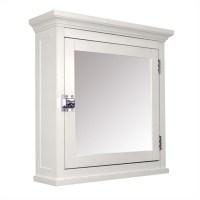 1-Door Medicine Cabinet in White - 7039
