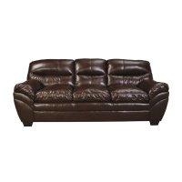 Ashley Tassler DuraBlend Faux Leather Sofa in Mahogany ...