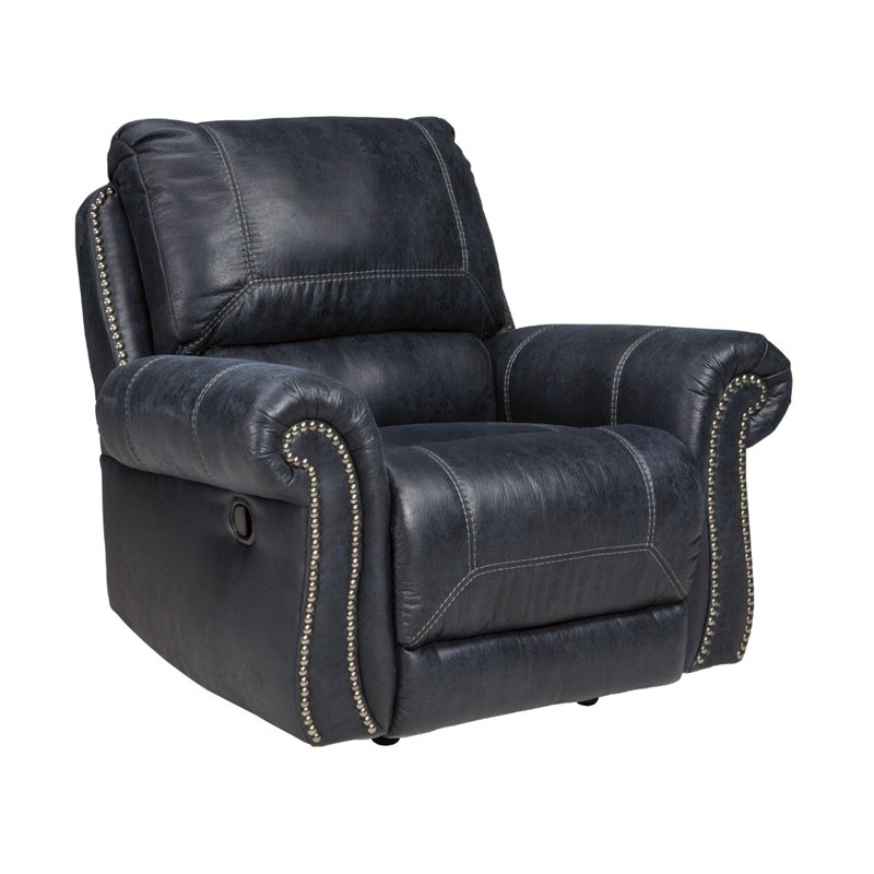 ashley leather sofas and loveseats top grain power reclining sofa set milhaven faux rocker recliner in navy ...