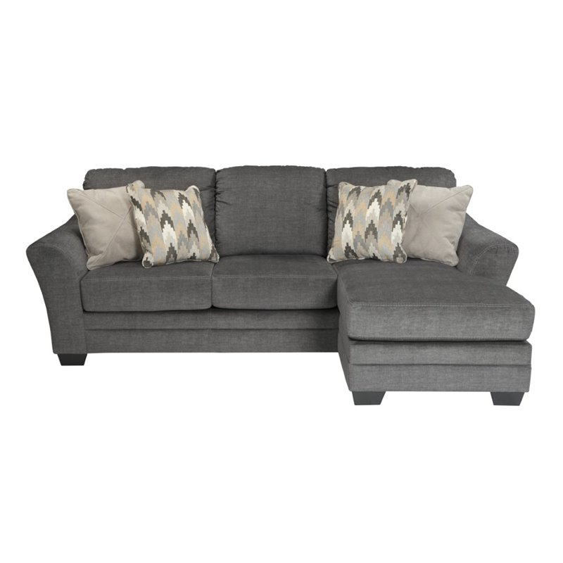 Ashley Braxlin Sofa Chaise In Charcoal 8850218