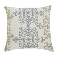 Ashley Scroll Throw Pillow Cover in Gray and Brown - A1000325P