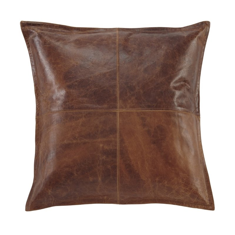 Ashley Brennen Leather Throw Pillow Cover in Brown  A1000637P