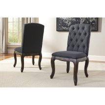 Ashley Trudell Upholstered Dining Chair In Dark Gray - D658-02