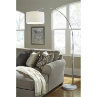Ashley Areclia Metal Arc Lamp in Chrome