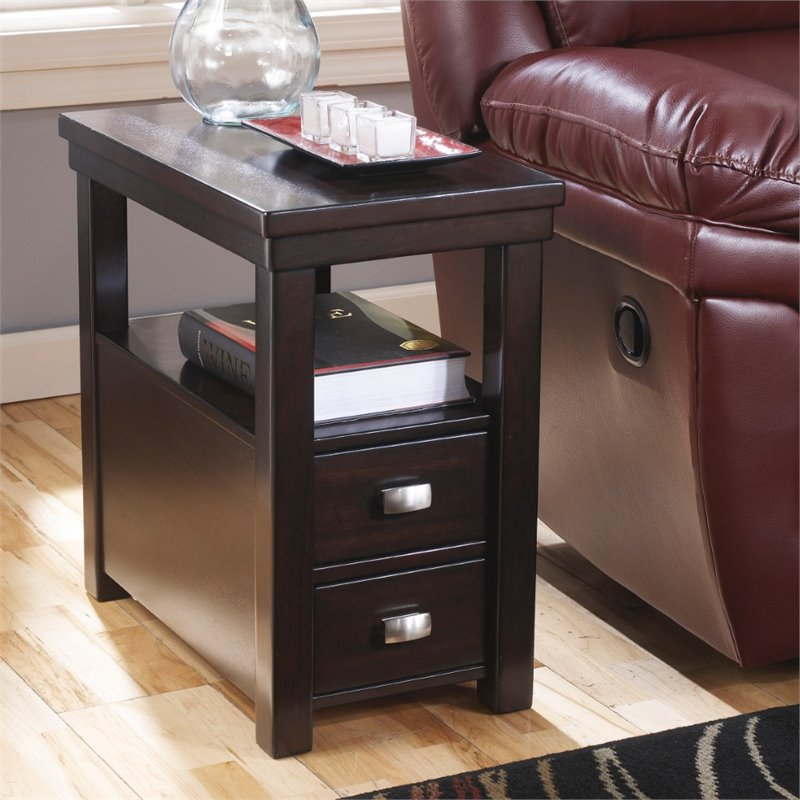 chair side tables canada rocking with cane seat and back ashley hatsuko end table in dark brown t864 7