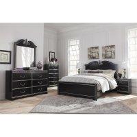 Ashley Navoni 5 Piece Queen Panel Bedroom Set in Black ...