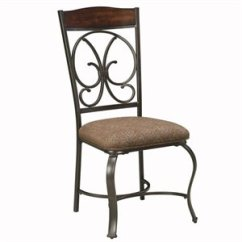 Wrought Iron Dining Chairs Pvc Lounge Cymax Stores Ashley Furniture Glambrey Side Chair In Brown