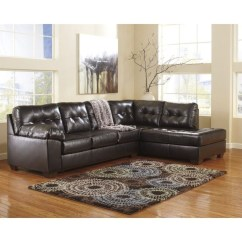 2 Piece Brown Leather Sofa City Evansville Hours Ashley Furniture Alliston Sectional In Chocolate 20101 17 66 Kit