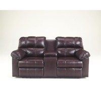 Ashley Furniture Kennard Double Reclining Leather Loveseat ...