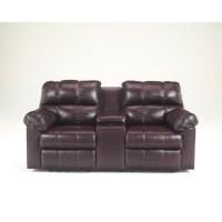 Ashley Furniture Kennard Double Reclining Leather Loveseat ...