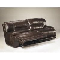 Ashley Furniture Exhilaration Reclining Leather Loveseat ...