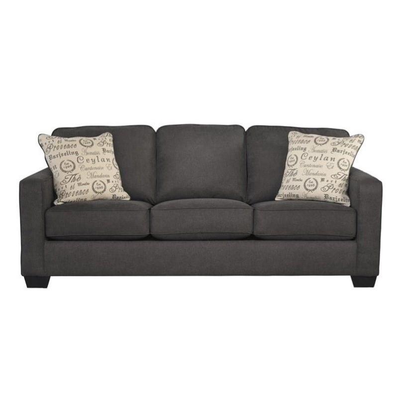 Ashley Furniture Alenya Microfiber Sofa In Charcoal 1660138