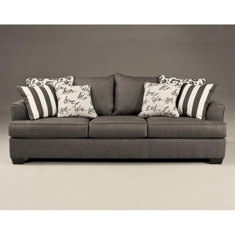 microfiber sofas bespoke long eaton signature design by ashley furniture levon sofa in charcoal 7340338