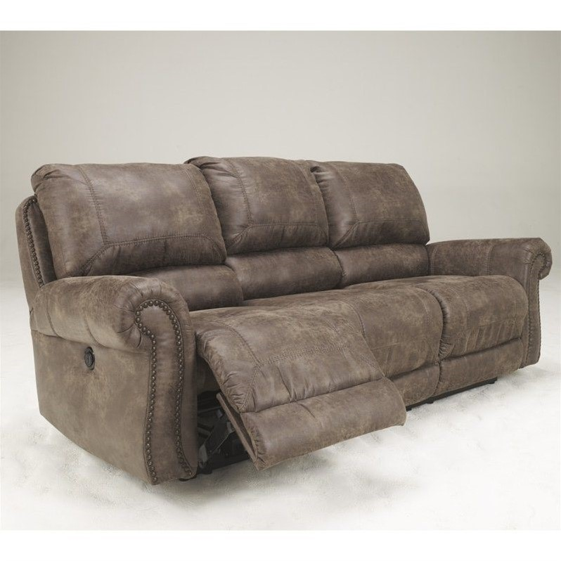 power reclining leather sofa sets rv ashley furniture oberson fabric in ...
