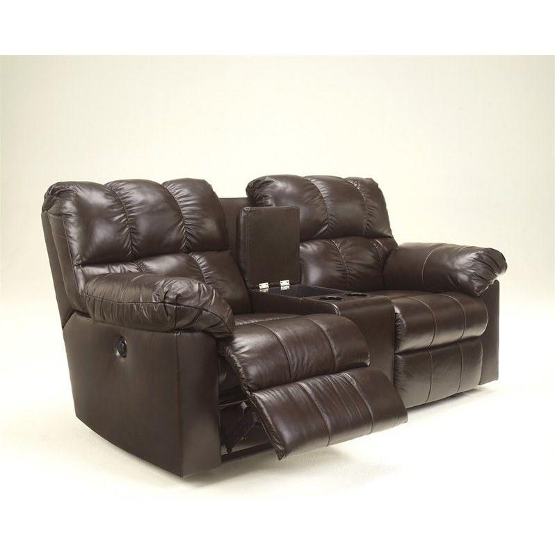 Ashley Furniture Kennard Leather Power Reclining Loveseat