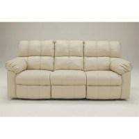 Ashley Furniture Kennard Leather Power Reclining Sofa in