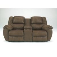 Ashley Furniture Quarterback Double Reclining Loveseat in ...