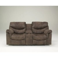 Ashley Furniture Alzena Faux Leather Double Reclining ...