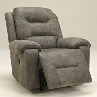 Ashley Furniture Rotation Power Rocker Recliner in Smoke ...