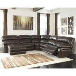 Ashley Furniture Sofa Sales Behind Table Diy Damacio 5 Piece Leather Reclining ...