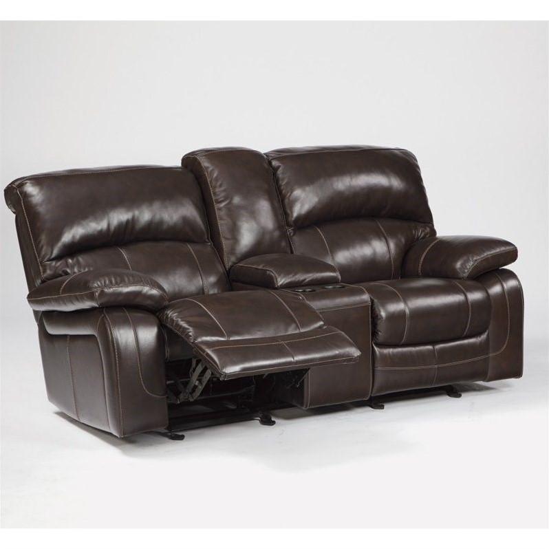 Ashley Furniture Damacio Leather Power Reclining Loveseat