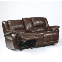 Ashley Furniture Lenoris Leather Power Reclining Loveseat ...