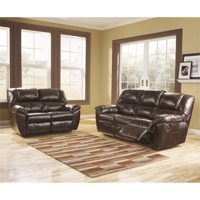 Signature Design by Ashley Furniture Rouge 2 Piece Leather