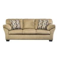 Ashley Aluria Fabric Queen Size Sleeper Sofa in Mocha ...