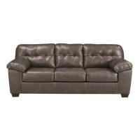 Ashley Furniture Alliston Leather Sofa in Gray - 2010238
