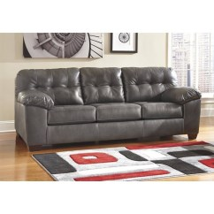 Brown Accent Pillows Sofa Outdoor Sale Uk Ashley Furniture Alliston Leather In Gray - 2010238