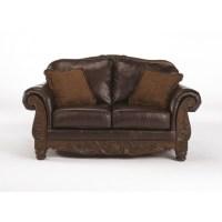 Ashley Furniture North Shore Leather Loveseat in Dark ...