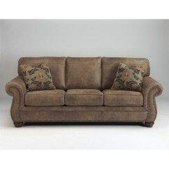 Queen Sofa Chaise Sleeper Good Quality Ashley Larkinhurst Faux Leather Size In ...